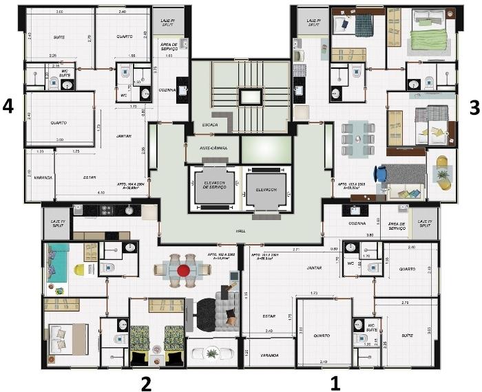 Planta baixa apartamentos