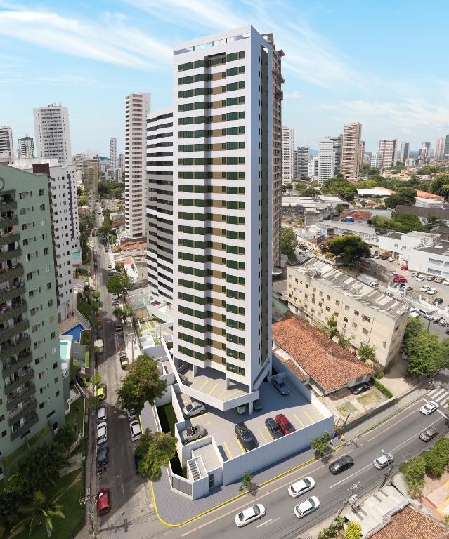 Imagem aérea do edifício